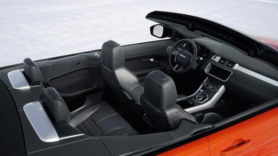 Практичность автомобиля Evoque кабриолет  ограничена его спецификой.