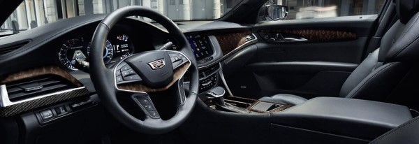 Фото Cadillac CT6 - вид на переднюю панель.