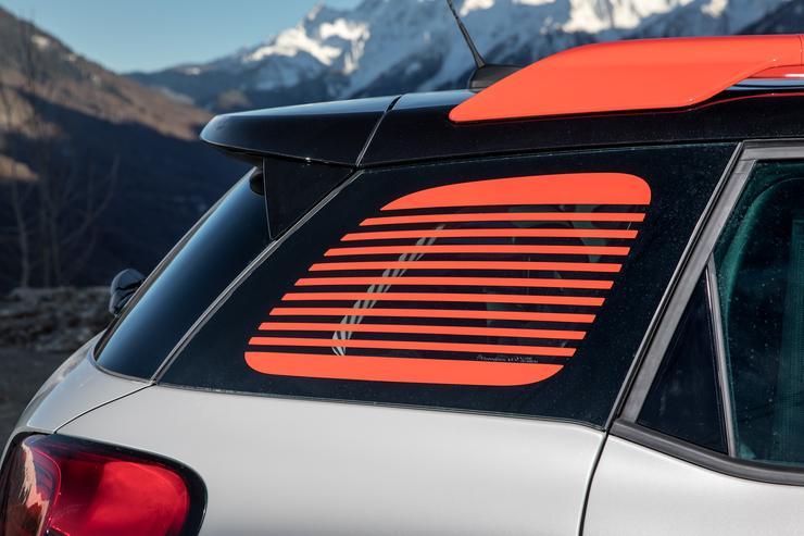 Дизайн задней части Citroen C3 Aircross.