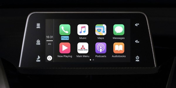 Экран мультимедиа Mitsubishi Eclipse Cross.
